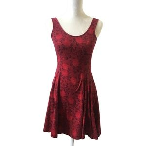 Urban Outfitters Red Roses Skater Dress